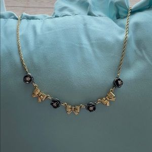 Betsey Johnson Rose and Bow Necklace